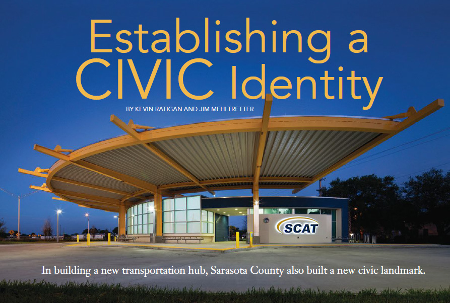 Sarasota Country Transit Authority Bus Transfer Station